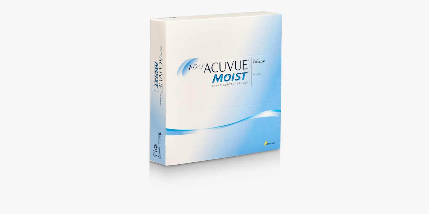 1-DAY ACUVUE® MOIST, 90 pack Contact Lenses