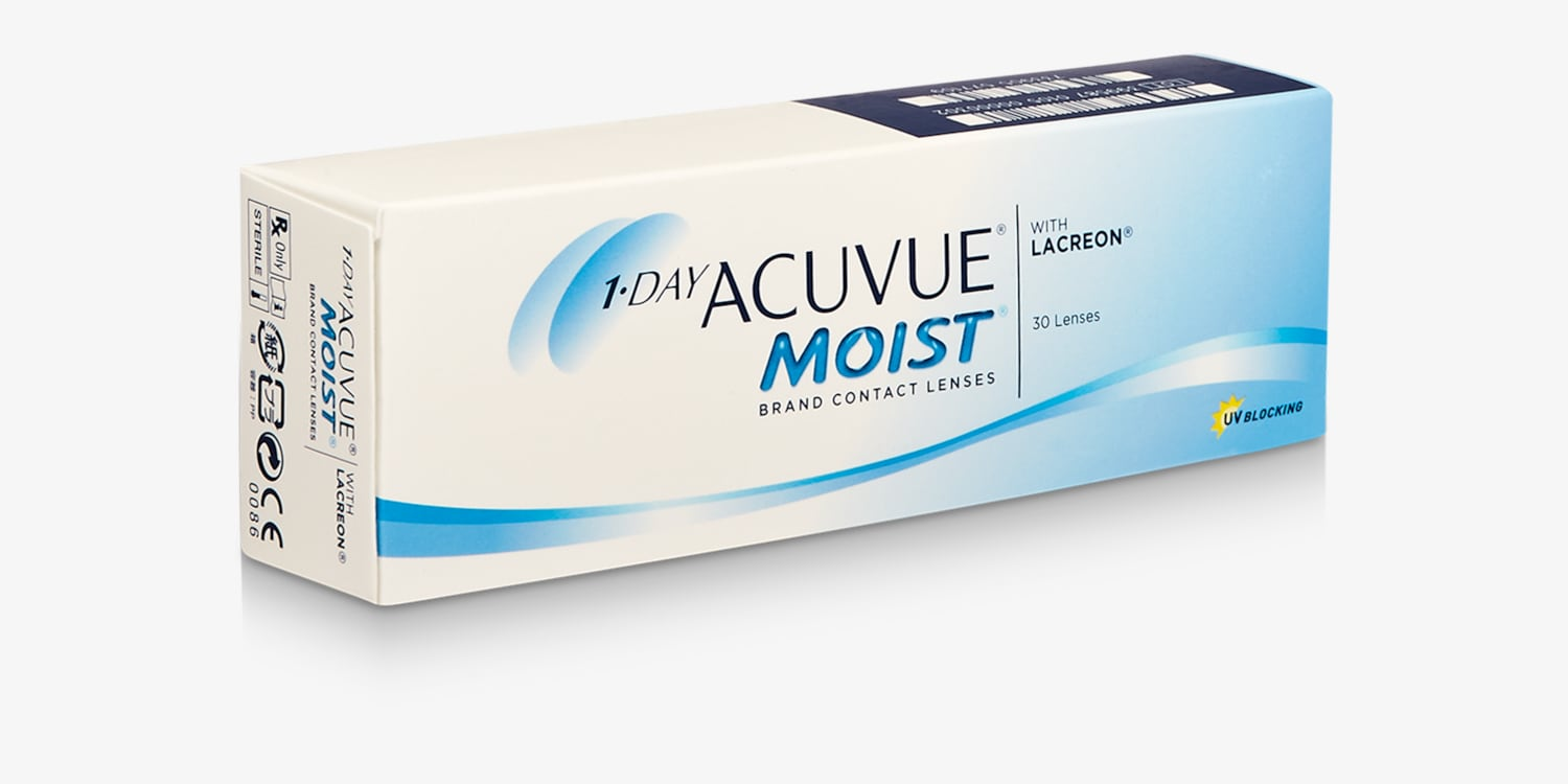 1-DAY ACUVUE® MOIST, 30 pack Contact Lenses