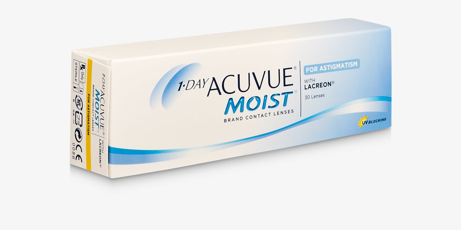 1-DAY ACUVUE® MOIST for ASTIGMATISM, 30 pack Contact Lenses