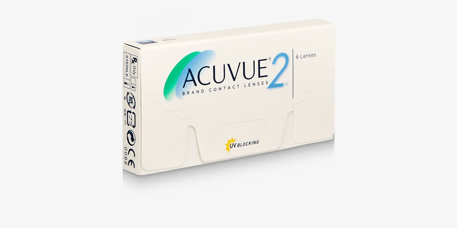 ACUVUE® 2 Brand Contact Lenses, 2-Week, 6-Pack Contact Lenses