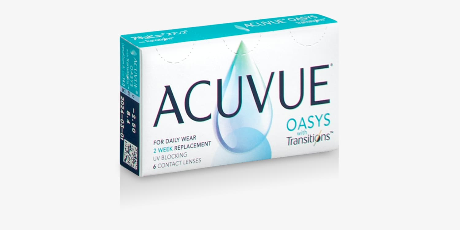 ACUVUE OASYS® with Transitions™ - 6 Pack Contact Lenses