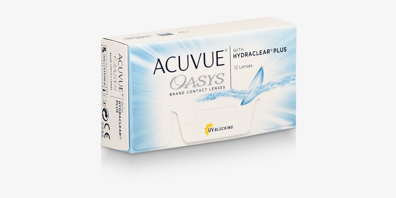 ACUVUE OASYS® with HYDRACLEAR® PLUS Technology, 12 pack Contact Lenses