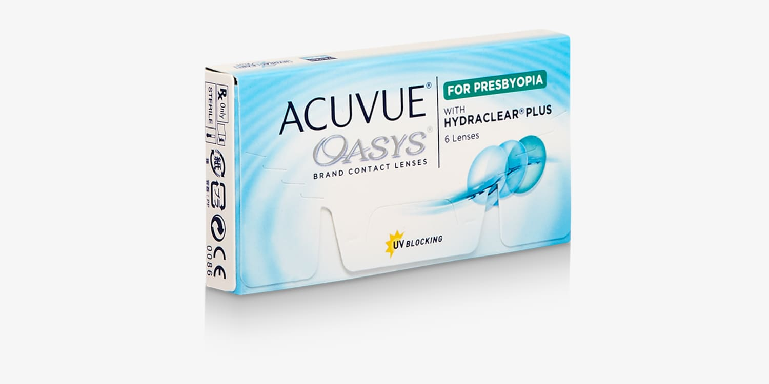 ACUVUE OASYS® Brand Contact Lenses 2-Week for PRESBYOPIA, 6-Pack Contact Lenses
