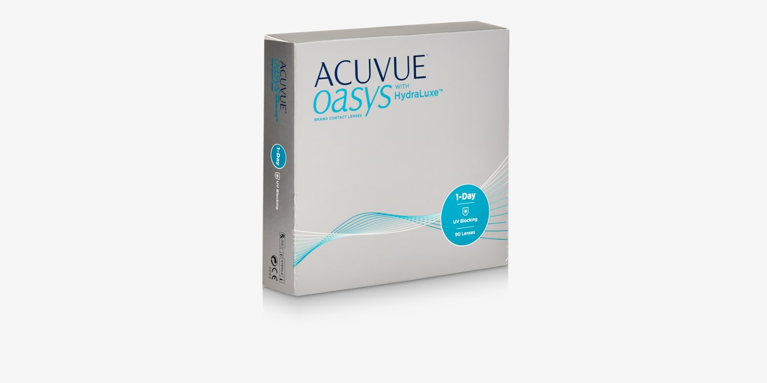 ACUVUE OASYS® 1-Day with HydraLuxe™ Technology, 90 pack Contact Lenses