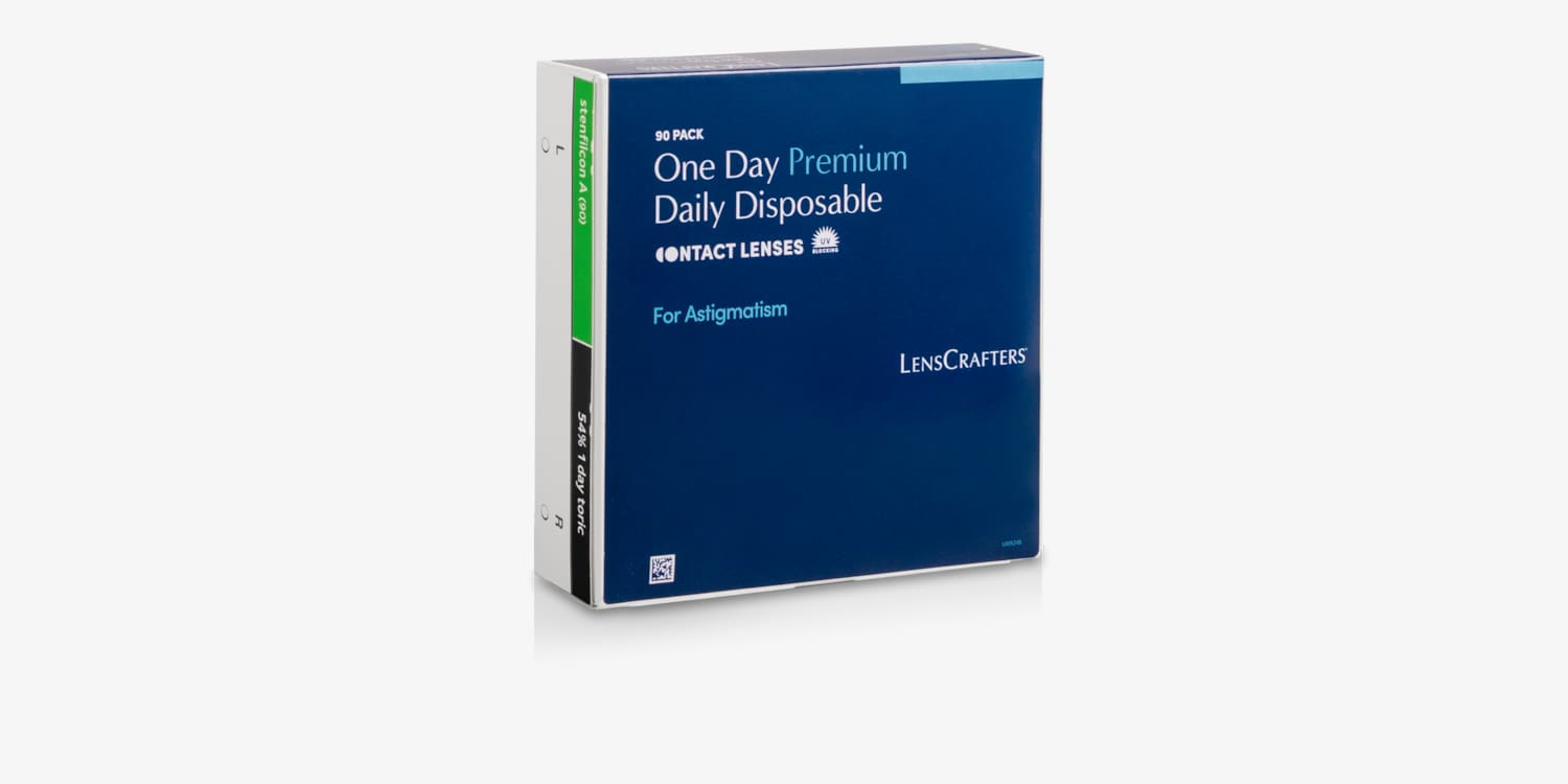 Lenscrafters One Day Premium for Astigmatism 90 Pack Contact Lenses