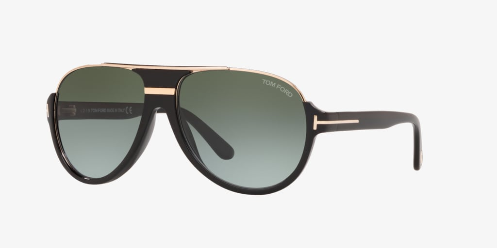 Tom Ford FT0334 DIMITRY 59 Black Grey Sunglasses