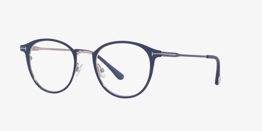 Tom Ford FT5528-B Matte Blue Eyeglasses