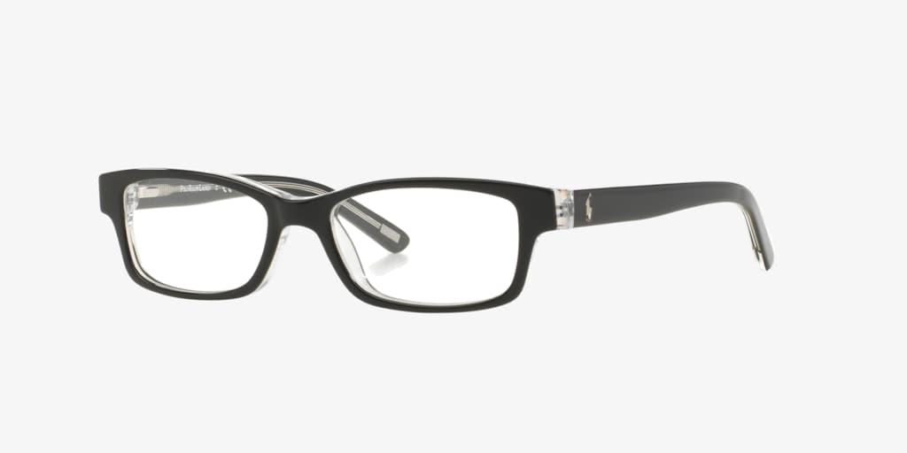 Polo Prep PP8518 Shiny Black On Crystal Eyeglasses