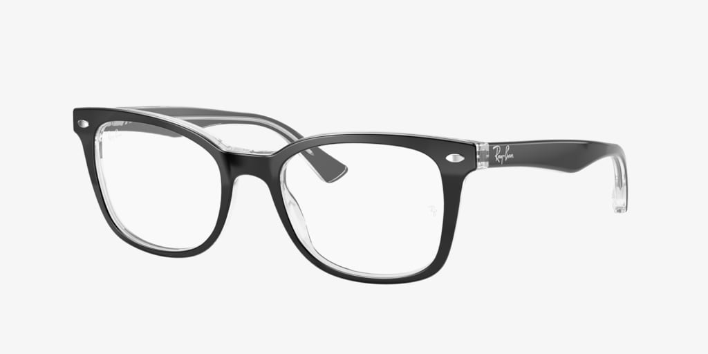 Ray-Ban RX5285 Black on Transparent Eyeglasses