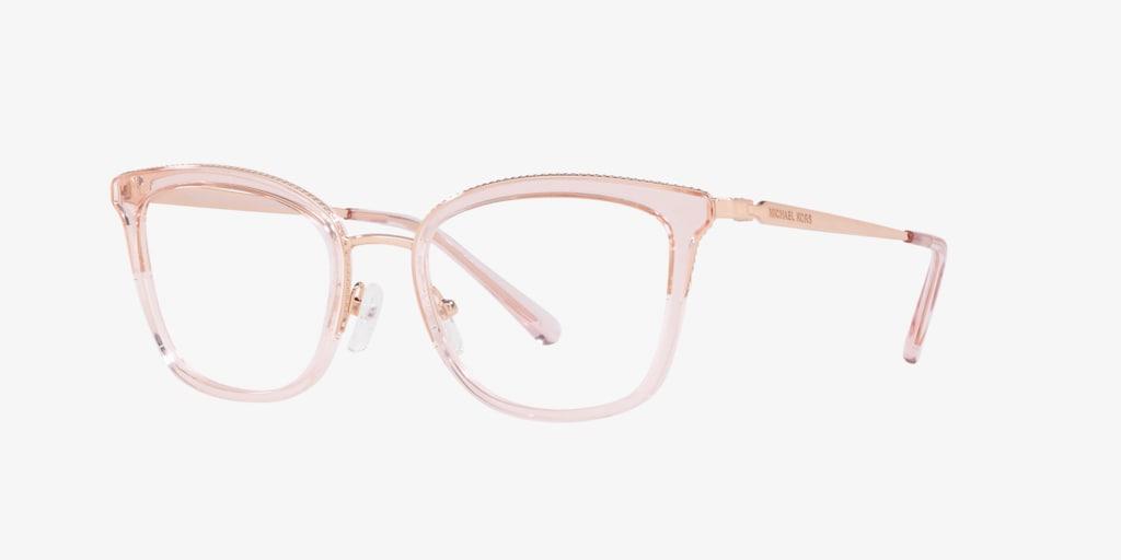 Michael Kors MK3032 COCONUT GROVE Rose Gold/Pink Transparent Eyeglasses