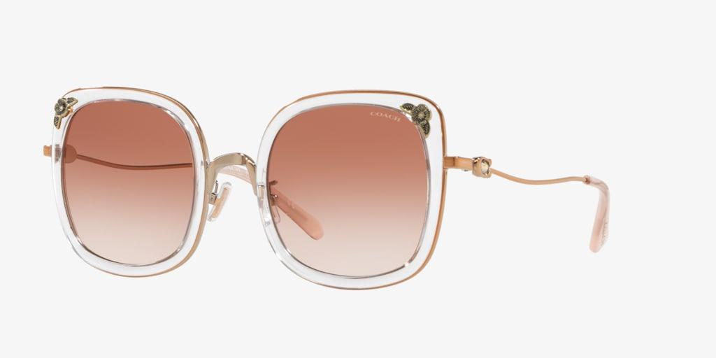 Coach HC7101B 53 L1081 Rose Gold/Transparent Pink Sunglasses