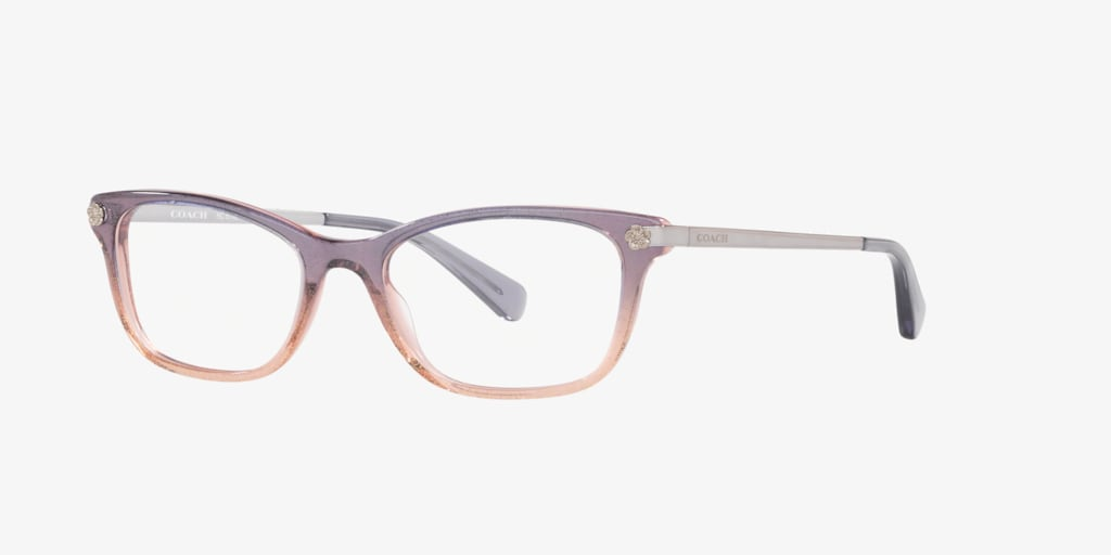 Coach HC6142 Violet Pink Glitter Gradient Eyeglasses