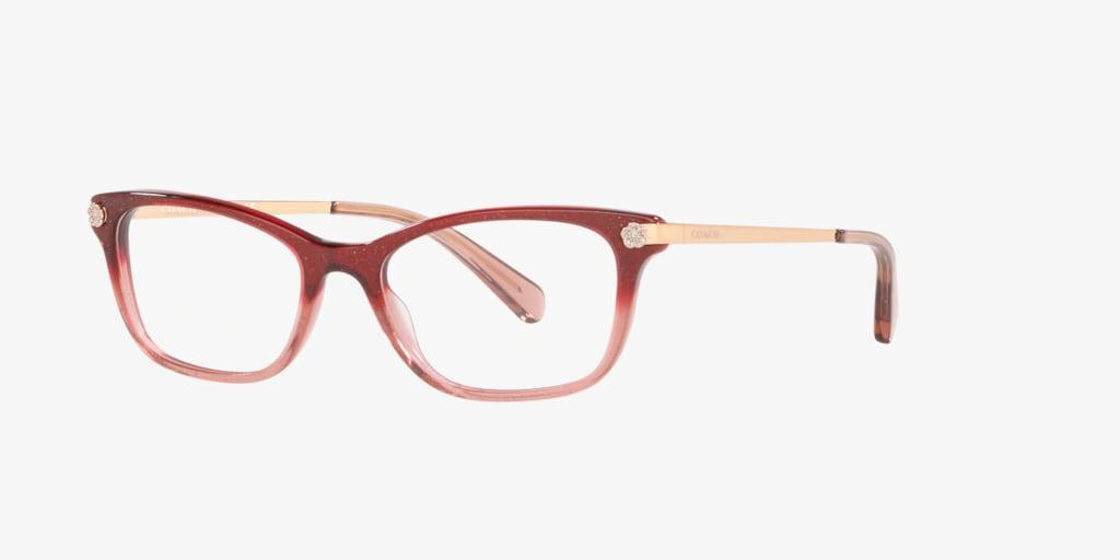Coach HC6142 Burgundy/Pink Glitter Eyeglasses
