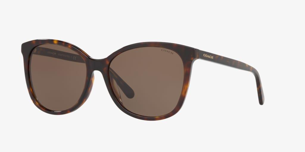 Coach HC8271U 57 L1101 Dark Tortoise Sunglasses