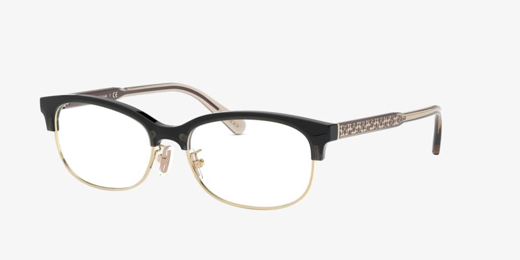 Coach HC6144 Transparent Grey/Light Gold Eyeglasses