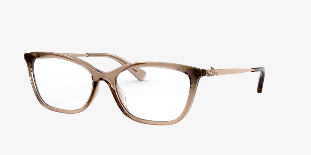 Coach HC6146U Transparent Brown Eyeglasses