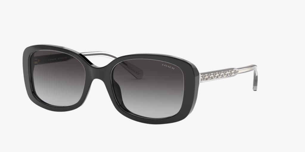 Coach HC8278 53 L1114 Black Sunglasses