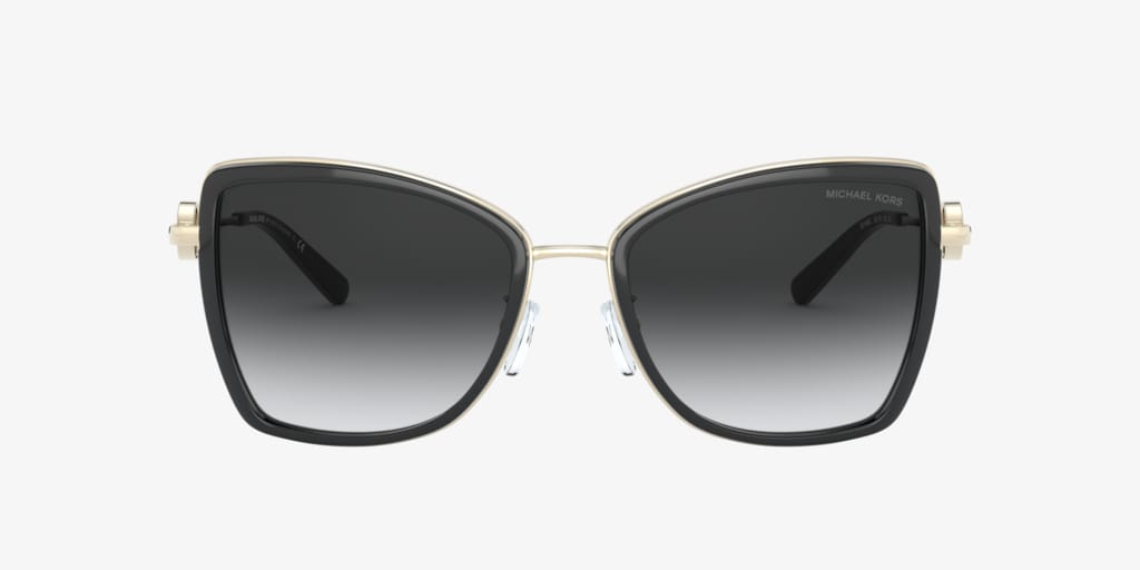 Michael Kors MK1067B 55 CORSICA Light Gold/Black Sunglasses