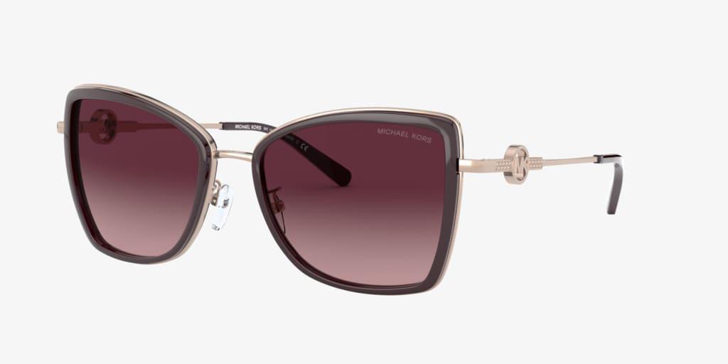 Michael Kors MK1067B 55 CORSICA Purple/Rose Gold Sunglasses