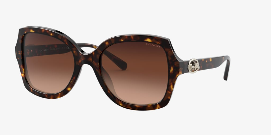 Coach HC8295F 56 L1140 Dark Tortoise Sunglasses