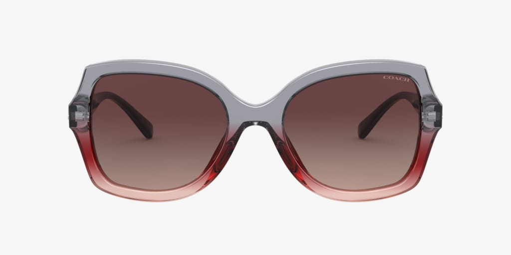 Coach HC8295F 56 L1140 Grey Burgundy Gradient Sunglasses