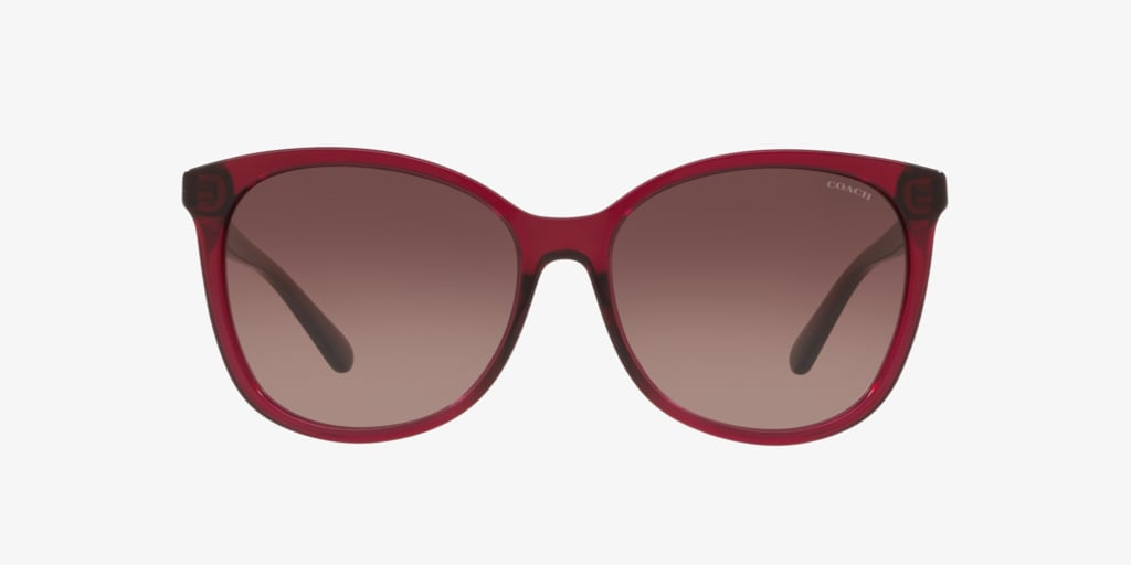 Coach HC8271U 57 L1101 Transparent Burgundy Sunglasses