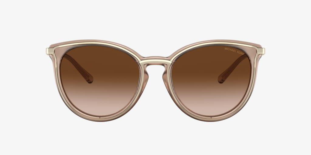 Michael Kors MK1077 54 BRISBANE Brown Transparent Sunglasses