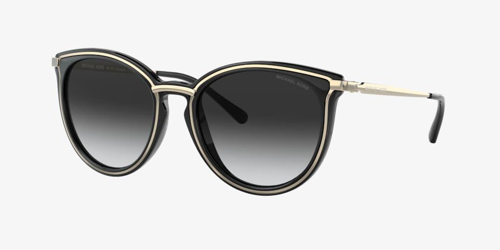 Michael Kors MK1077 54 BRISBANE Light Gold/Black Sunglasses
