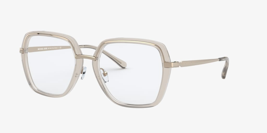 Michael Kors POINT REYES Brown Transparent Eyeglasses