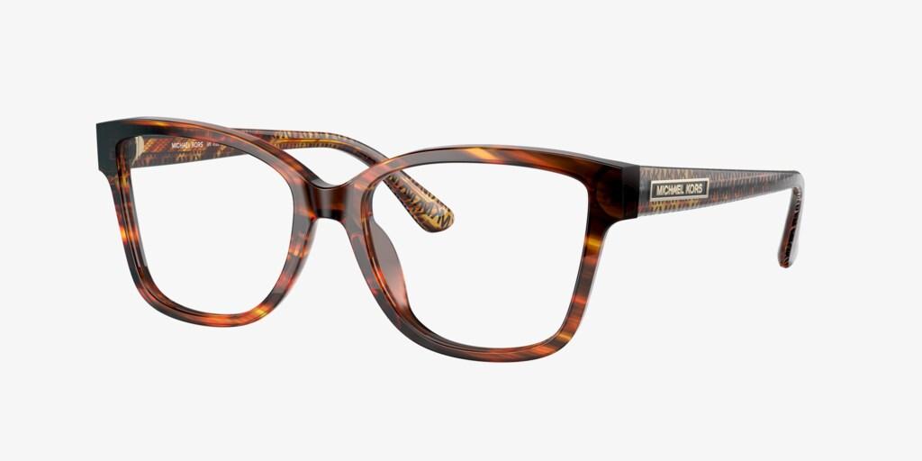 Michael Kors MK4082 ORLANDO Transparent Brown Tortoise Eyeglasses