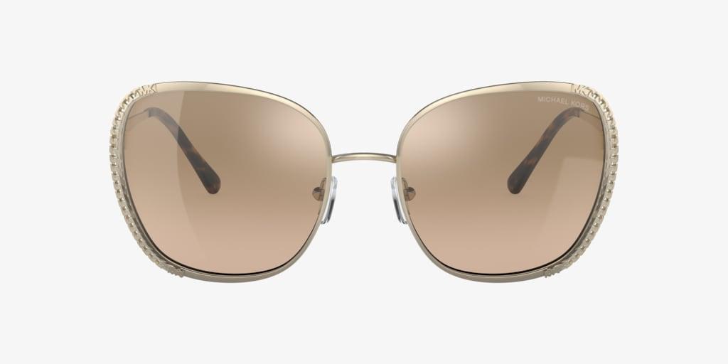 Michael Kors MK1090 59 AMSTERDAM Light Gold Sunglasses