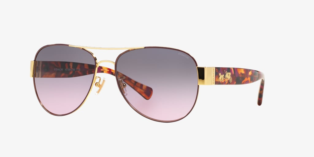 Coach HC7059 58 L138 Purple/Gold Sunglasses