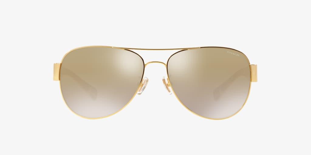 Coach HC7059 58 L138 Gold Sunglasses