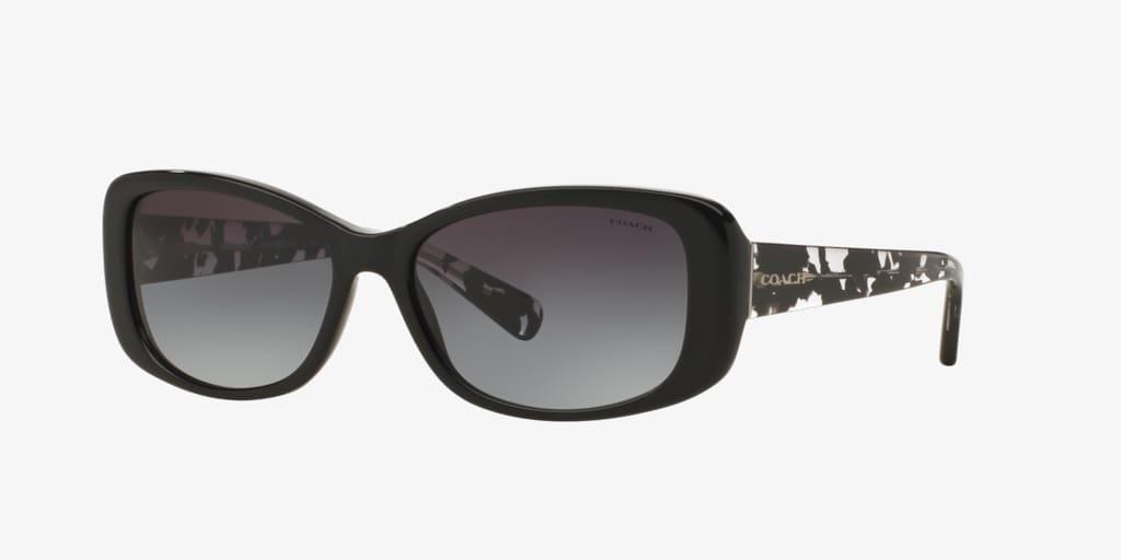 Coach HC8168 56 L156 Black Sunglasses