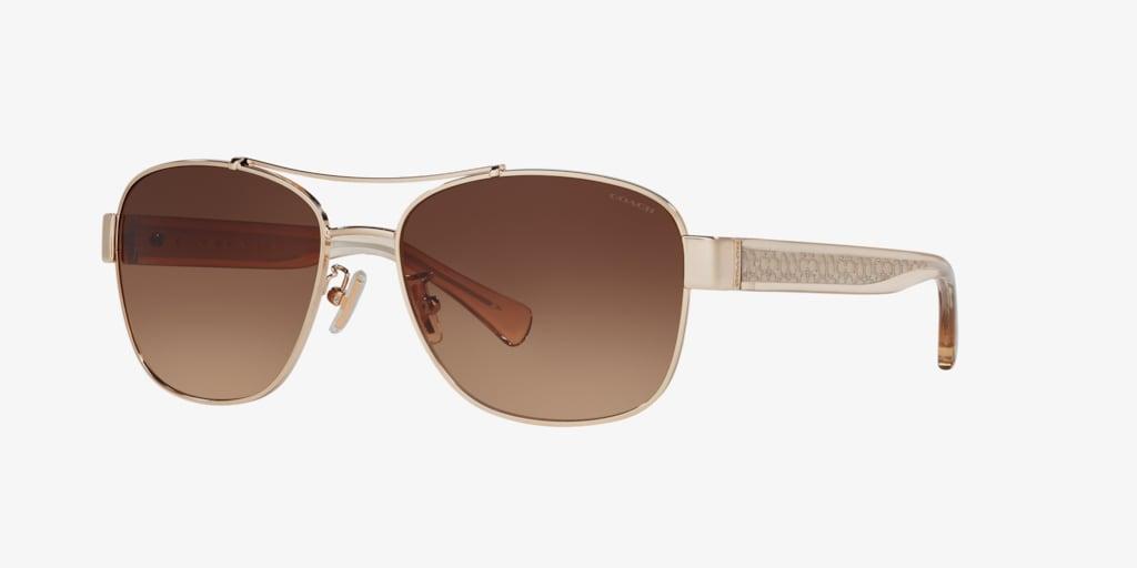 Coach HC7064 56 L151 Light Gold Sunglasses