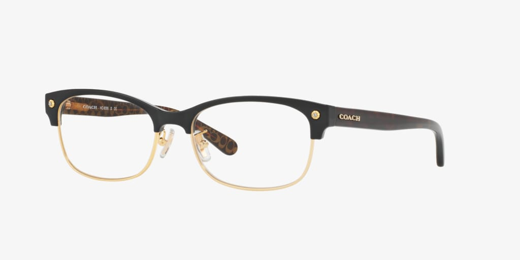 Coach HC6098 Black/Light Gold Eyeglasses