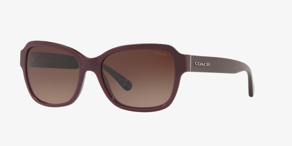 Coach HC8232 56 L1010 Burgundy Sunglasses