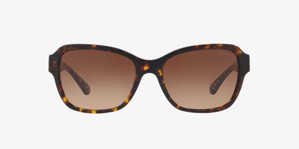 Coach HC8232 56 L1010 Dark Tortoise Sunglasses