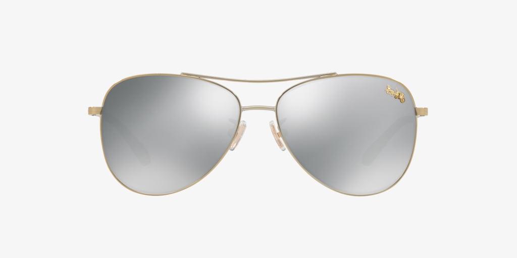 Coach HC7079 58 L1013 Light Gold Sunglasses