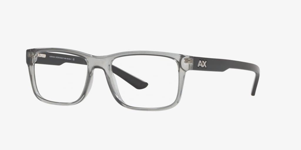 Armani Exchange AX3016 Shiny Transparent Grey Eyeglasses