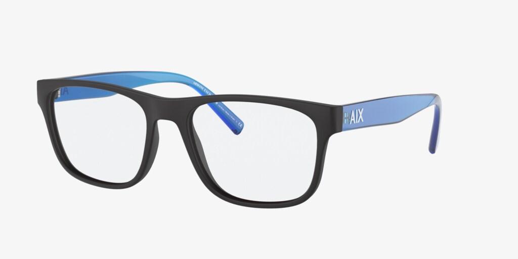Armani Exchange AX3075 Matte Black Eyeglasses