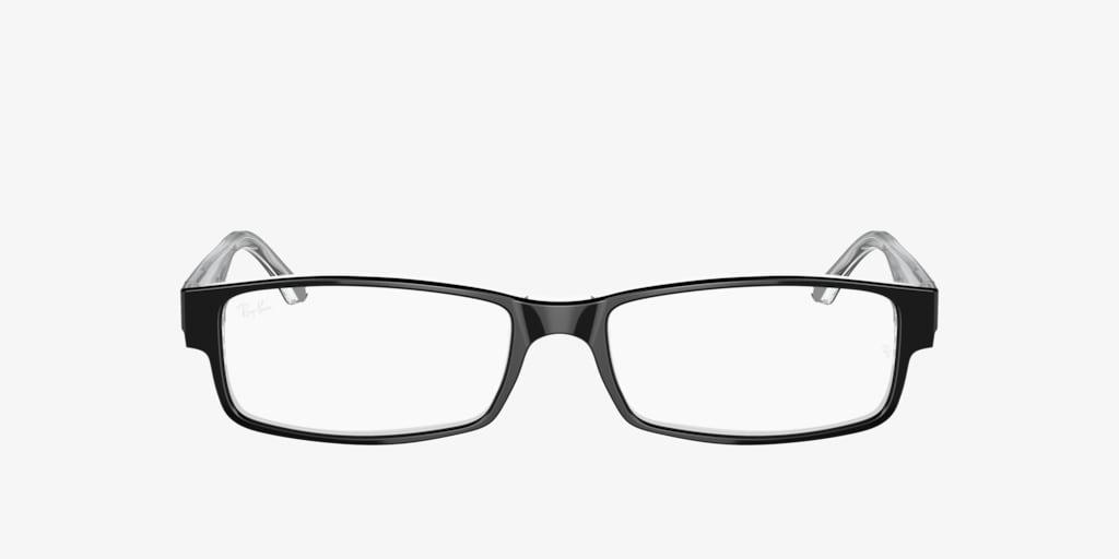 Ray-Ban RX5114 Black on Transparent Eyeglasses