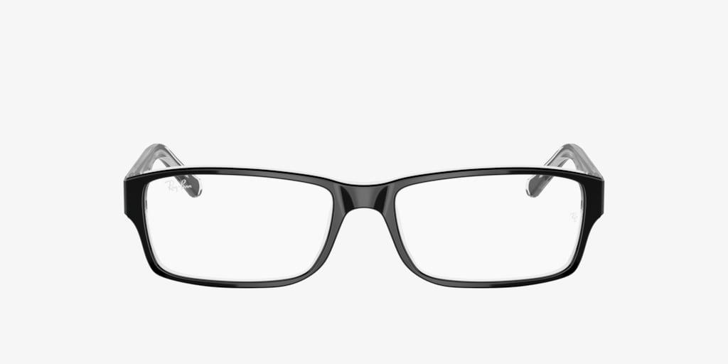 Ray-Ban RX5169 Black on Transparent Eyeglasses