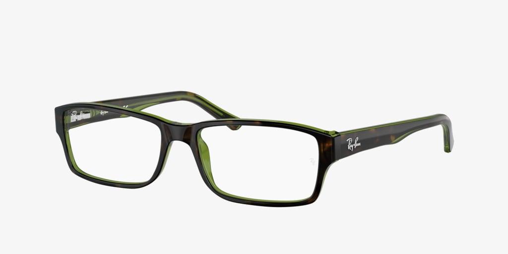 Ray-Ban RX5169 Havana on Green Transparent Eyeglasses