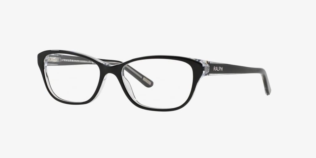 Ralph RA7020 Shiny Black On Crystal Eyeglasses