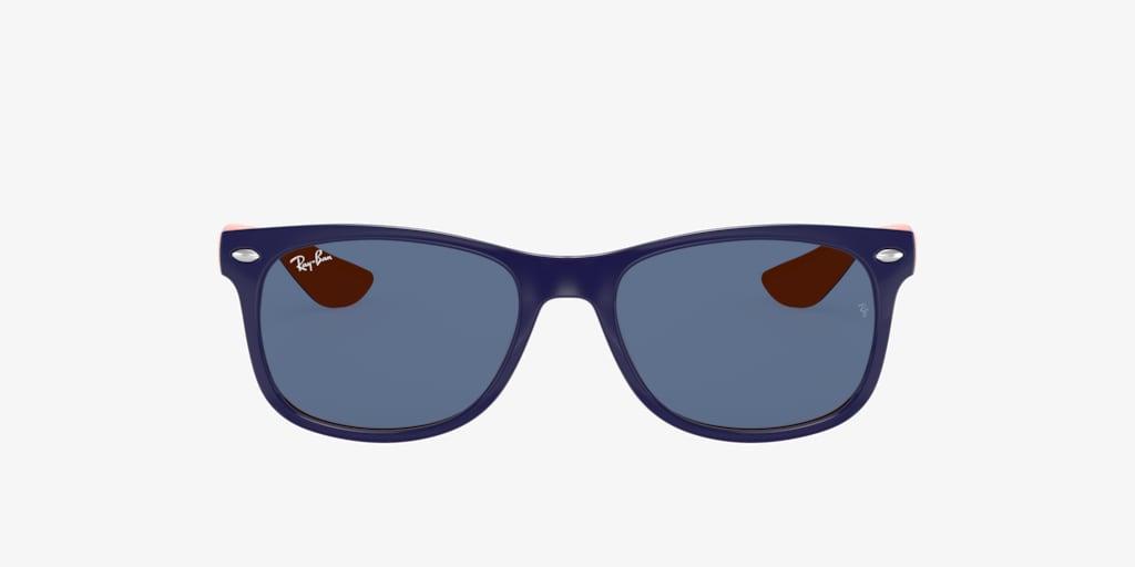 Ray-Ban Jr RJ9052S 47 JUNIOR NEW WAYFARER Blue On Orange Sunglasses