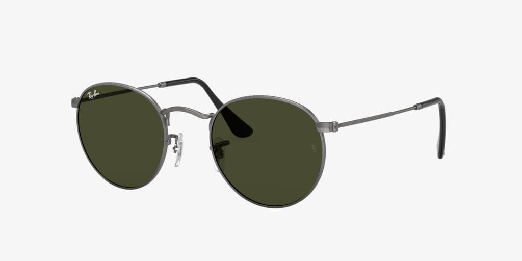 Ray-Ban RB3447 50 ROUND METAL Matte Gunmetal Sunglasses