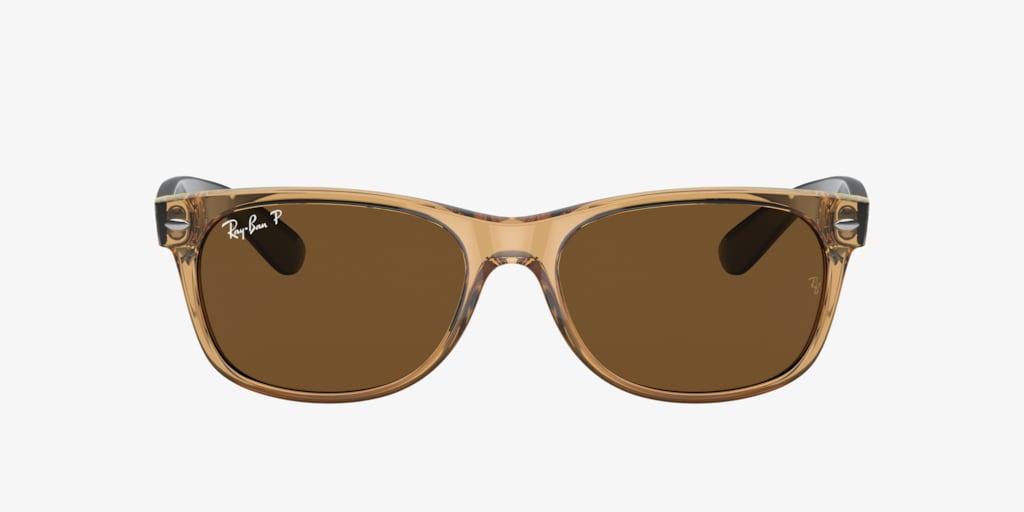 Ray-Ban RB2132 52 NEW WAYFARER Transparent Brown Sunglasses