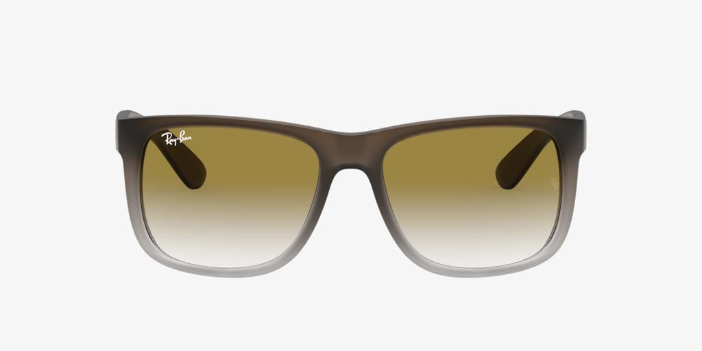 Ray-Ban RB4165 55 JUSTIN Brown On Grey Sunglasses