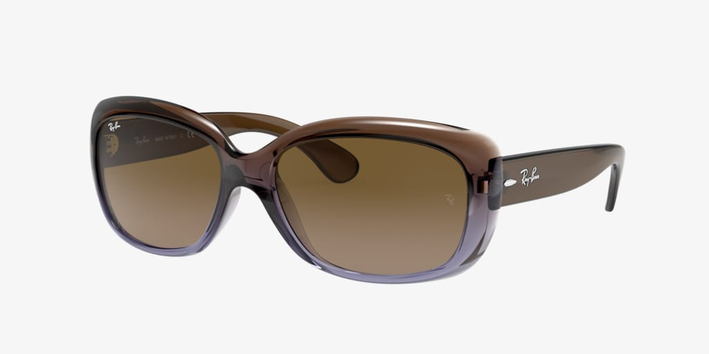 Ray-Ban RB4101 58 JACKIE OHH Brown Gradient Lilac Sunglasses